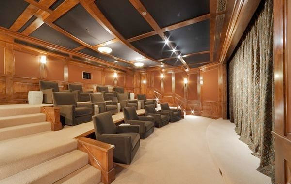 Sala de cine privado del actor Robin Williams