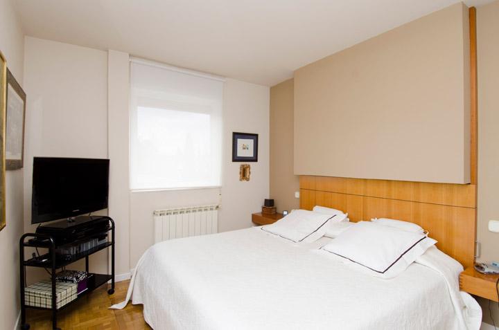 Dormitorio ático en Madrid