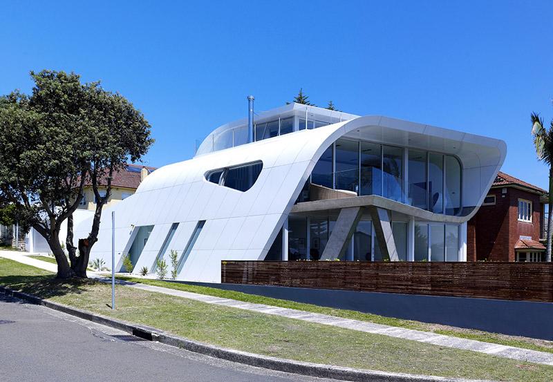 Fachada casa moebius