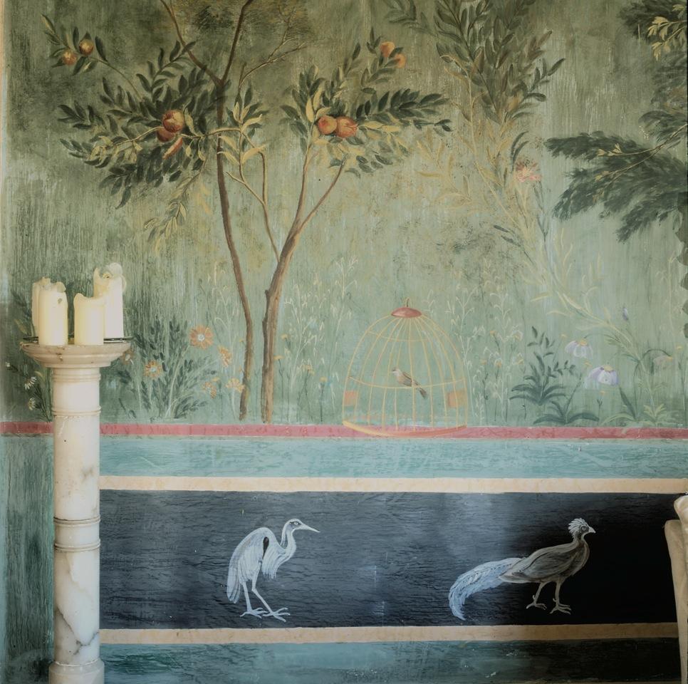 Frescos pintados a mano del salón