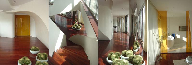 Formas orgánicas en la escalera
