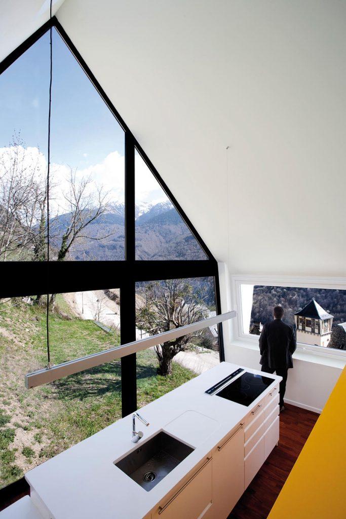 Vistas desde la cabaña Pirineos