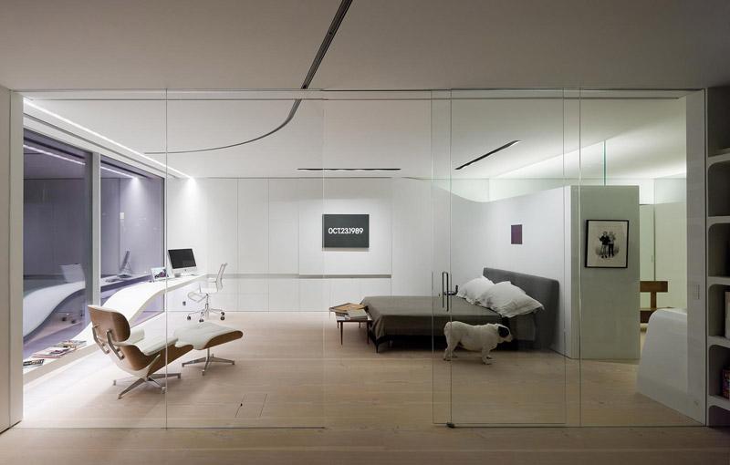 Dormitorio loft Nueva York